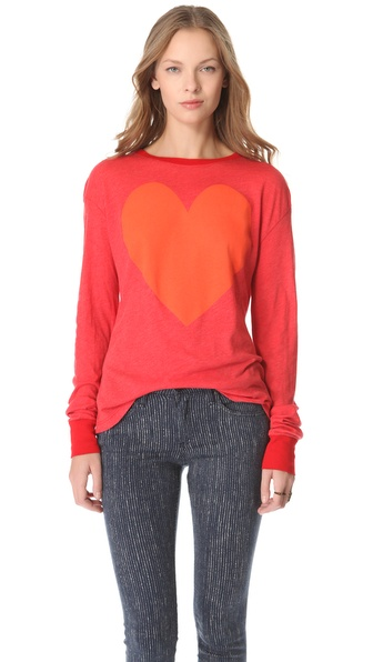 Wildfox Lover Long Sleeve Tee