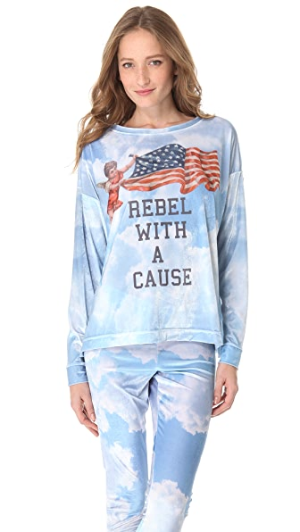 Wildfox Rebel with a Cause Pajama Top