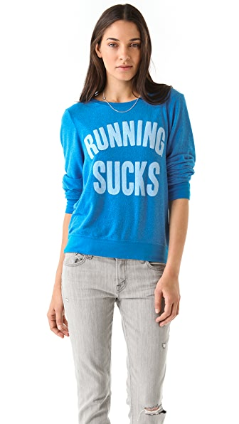 Wildfox Running Sucks Baggy Beach Sweatshirt