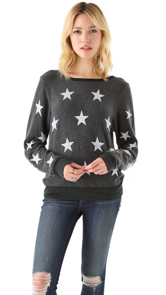Wildfox Starshine Baggy Beach Sweatshirt