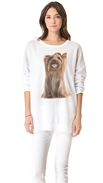 Wildfox Granny's Dog Barefoot Sweater