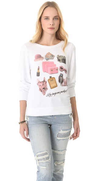 Wildfox Granny's Bag Baggy Beach Sweatshirt