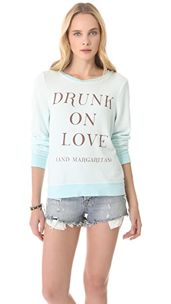 Wildfox Drunk on Love & Margaritas Baggy Beach Sweatshirt