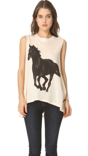 Wildfox Black Stallion Muscle Tee