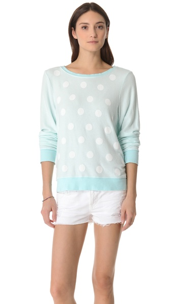 Wildfox Polka Dot Baggy Beach Sweatshirt