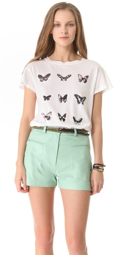 Shop Wildfox Warhol Butterflies Tee and Wildfox online - Apparel,Womens,Tops,Tee, online Store