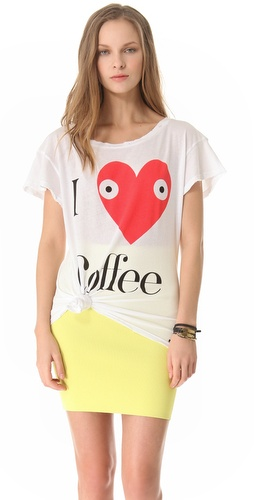 Shop Wildfox Addicted Tee and Wildfox online - Apparel,Womens,Tops,Tee, online Store