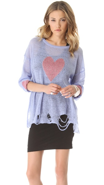 Wildfox Happy Heart Sweater