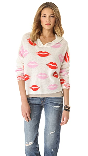 Wildfox Make Out Party Hooded Sweater
