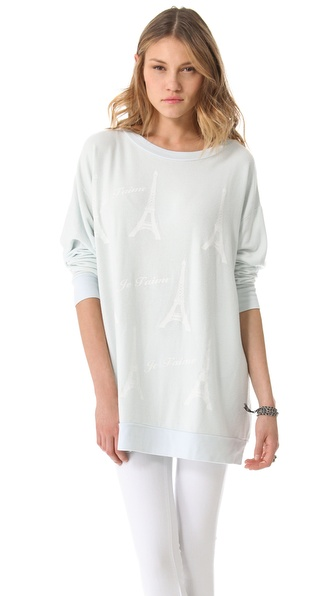 Wildfox Paris Je T'aime Tunic Top