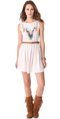 Wildfox Charlie Skull Babydoll Dress