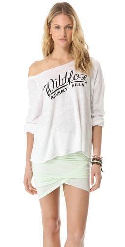Kupi Wildfox Beverly Chase Off Shoulder Top i Wildfox haljine online u Apparel, Womens, Tops, Tee,  prodavnici online