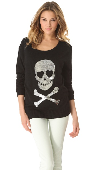 Wildfox Love Skull Sweater