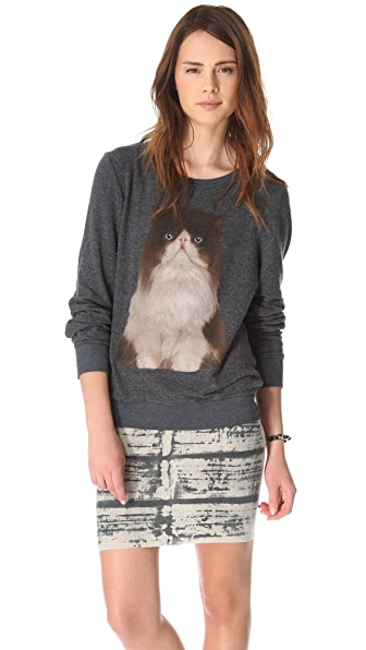 Wildfox Chocolate Kitten Sweatshirt