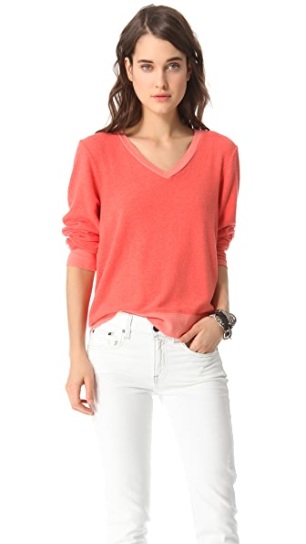 Wildfox Basic V-Neck Top