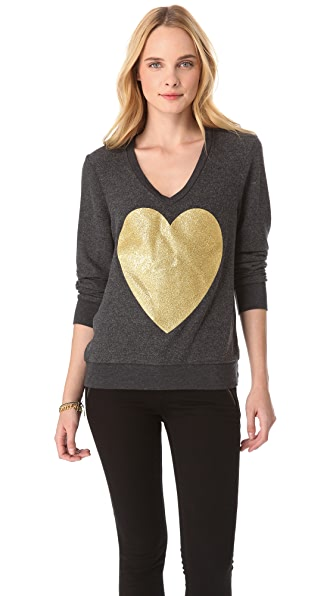 Wildfox Sparkle Heart Sweatshirt