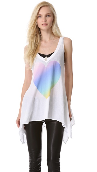 Wildfox Amour Amour Heart Tank