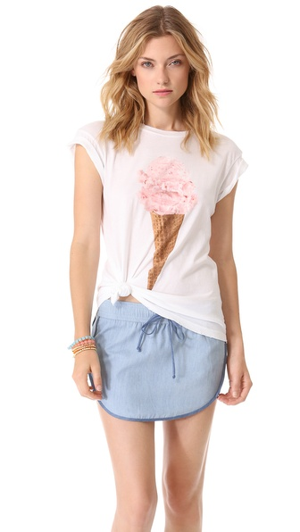 Wildfox Breakfast Crew Neck Tee