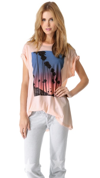 Wildfox Canyon Palms Oversized Tee