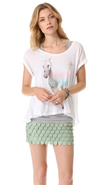 Wildfox Rainbow Pony Lazy Weekend Tee