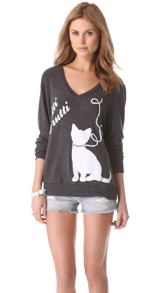Wildfox Cat's Meow Beach Sweatshirt
