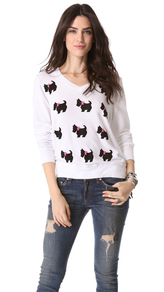 Wildfox Black Doggie Beach Sweatshirt