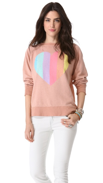 Wildfox Prism Heart Sweater