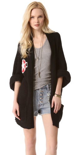 Wildfox Army Girl Cardigan