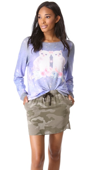 Wildfox Fortunes Fool Baggy Beach Sweatshirt