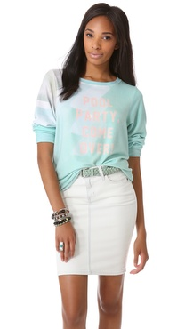 Wildfox Pool Party Baggy Beach Sweatshirt