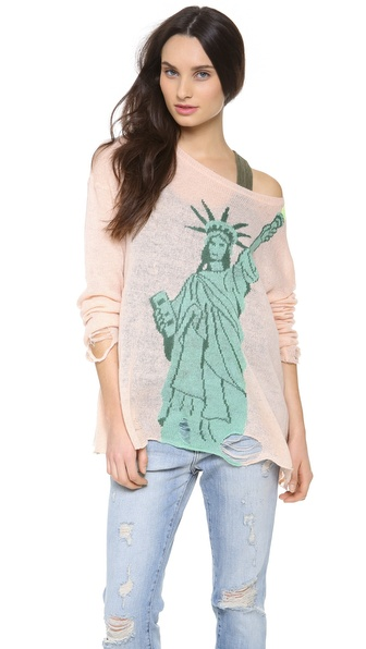 Wildfox Statue of Liberty Lennon Sweater