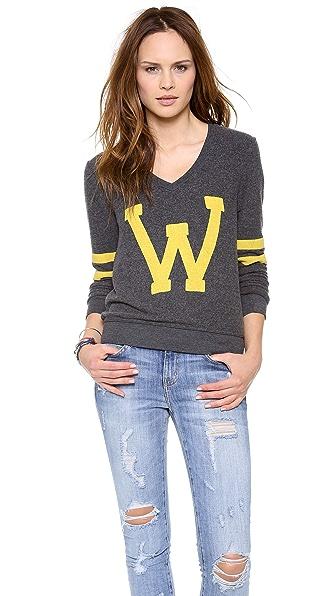 Wildfox Letterman Baggy Beach Sweatshirt