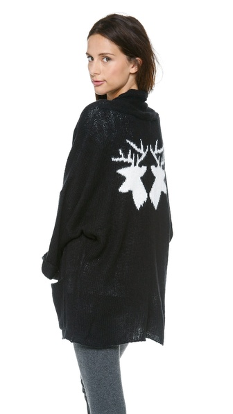 Wildfox Mirrored Deer Cardigan