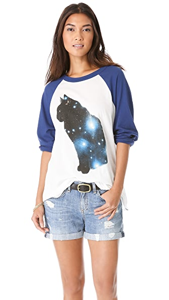 Wildfox Galaxy Cat Tee