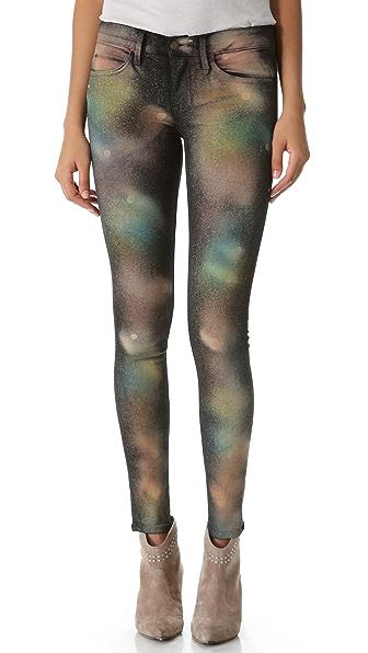 Wildfox Marianne Print Skinny Jeans