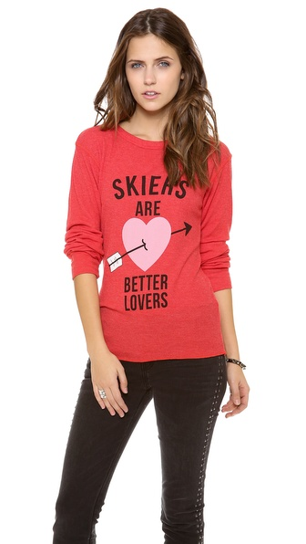 Wildfox Skiers are Better Lovers Top