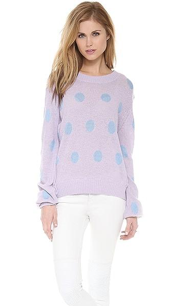 Wildfox Polka Dot It Sweater