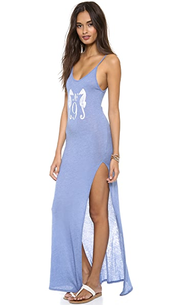 Wildfox Seahorse Cover Up Maxi Dress