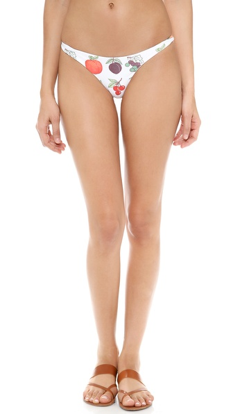 Wildfox Fruit Punch Ruched Bikini Bottoms