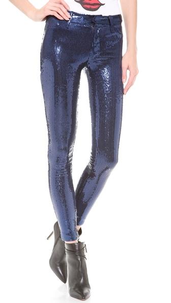 Wildfox Raquel Mid Rise Skinny Sequin Pants