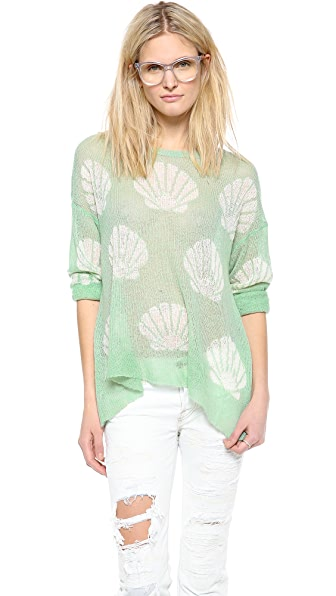 Wildfox Shell Baby Loose Knit Sweater
