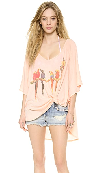 Wildfox Birds in Paradise Butterfly Tunic