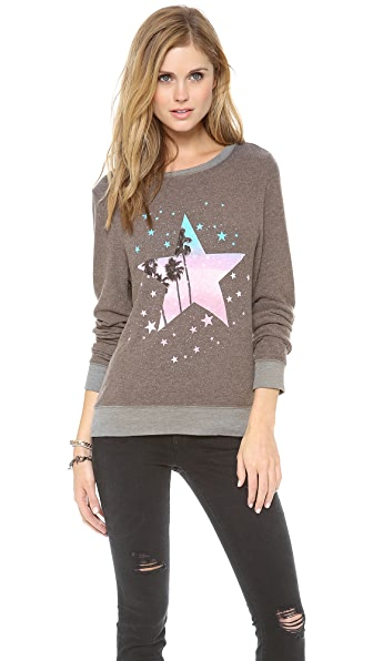 Wildfox Starry Palms Baggy Beach Sweatshirt