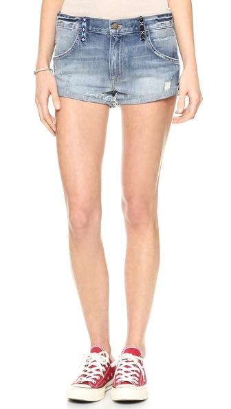 Wildfox Michelle Slouchy Boyfriend Shorts