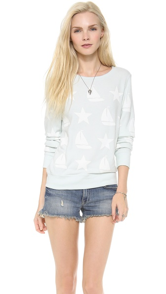 Wildfox Stars and Ships Baggy Beach Sweatshirt