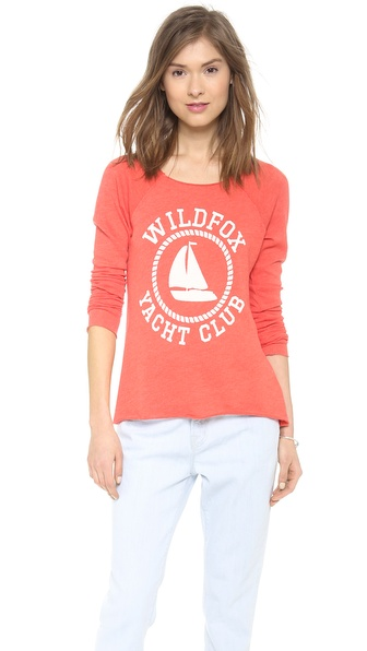 Wildfox Sail On Raglan Top
