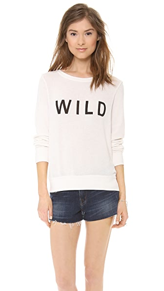 Wildfox Wild Long Sleeve Top