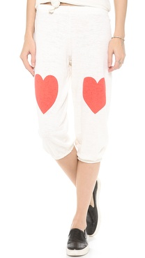 Wildfox Lover Bottoms Cropped Morning Sweats