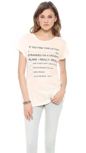 Wildfox Island Message Tee