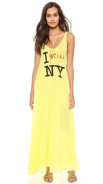Wildfox I Miss NY Tank Maxi Dress